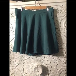 ModCloth BNWOT size xl green mini skater skirt